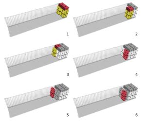 Visualización de cada paso de la carga